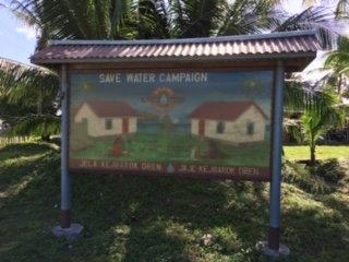 Save water campaign. Majuro island, Marshall Islands