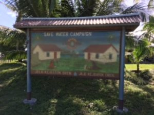 Save water campaign. Majuro island, Marshall Islands